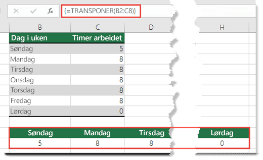 #VERDI!-feilen blir løst når du trykker CTRL+ALT+ENTER