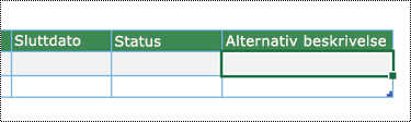Skjermbilde av opprettelse av datavisualiseringsdiagram i Excel