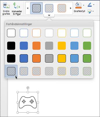 Redigere grafisk stil på et ikon