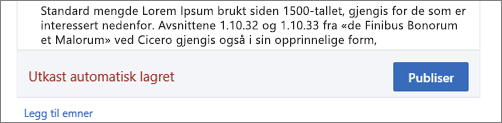 Automatisk automatisk lagring