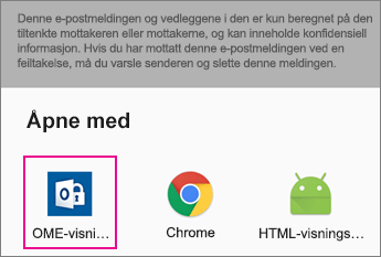 OME Viewer med Gmail på Android 2