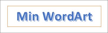 WordArt-eksempel