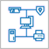 Ikon for nettverksdiagram
