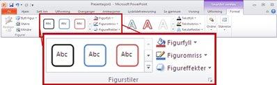 Kategorien Format under SmartArt-verktøy.