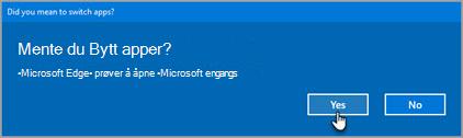 Spørsmål om Office 365 Bytt apper