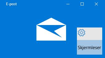 Oversikt over e-post for Windows 10 og skjermleser