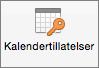 Kalendertillatelser-knappen i Outlook 2016 for Mac