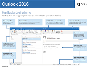 Hurtigstartveiledning for Outlook 2016 (Windows)