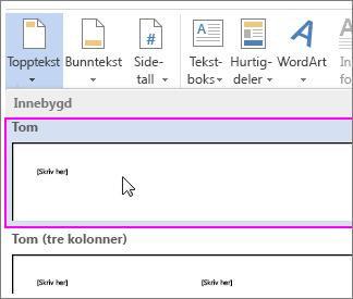 Hvordan sette inn filbane og filnavn i Word - Norsk 2016 ...