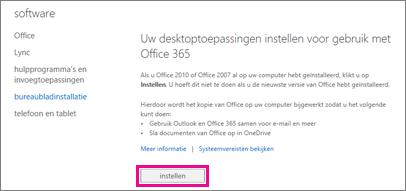 Instellen van uw bureaubladtoepassingen voor gebruik met Office 365