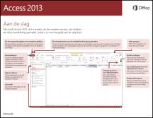 Handleiding Snel aan de slag voor Access 2013