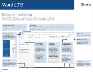 Beknopte handleiding voor Word 2013