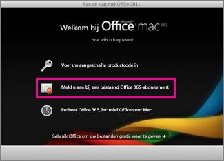 Installatiepagina voor Office voor Mac voor Thuisgebruik