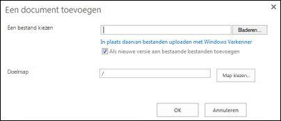 Uploaden met Windows Verkenner