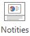 Selecteer notities op het tabblad weergave van de ribon, in de groep weergeven.