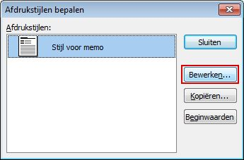 In the Define Styles dialog box, click Edit.