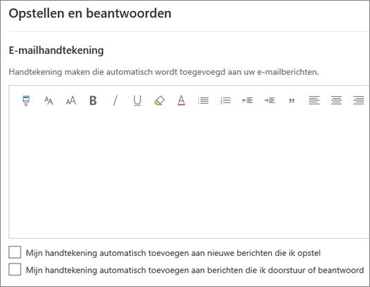 Een e-mailhandtekening maken in de webversie van Outlook