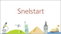 Met de sjabloon QuickStarter in PowerPoint 2016 maakt u een overzicht van een onderwerp van uw keuze.