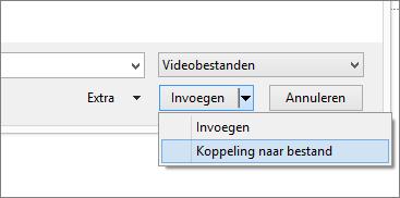 Toont het dialoogvenster Video invoegen in PowerPoint