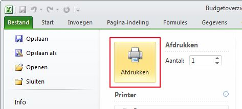 Click Print to start printing.
