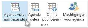 Uw agenda verzenden in een e-mailbericht