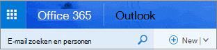 Dit is wat in de webversie van Outlook eruit