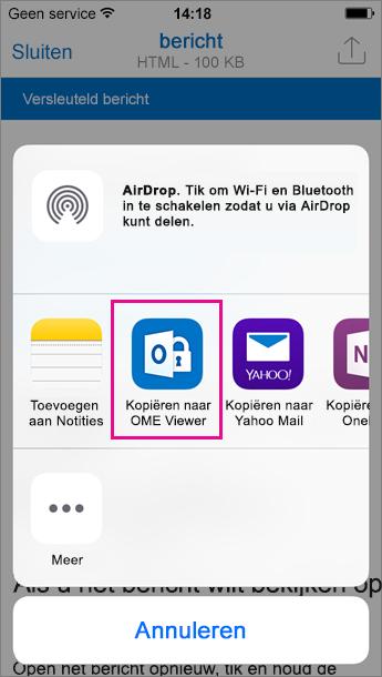 OME Viewer voor Outlook voor iOS 3