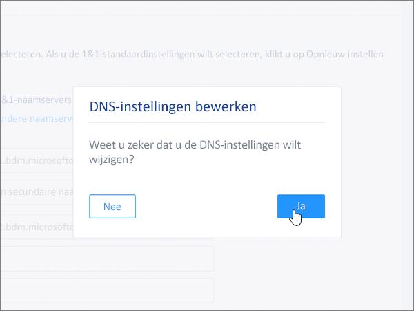 Op Opslaan klikken in het dialoogvenster Edit DNS Settings.