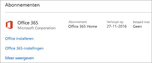 Als uw proefversie voor Office 365 op uw nieuwe pc was geïnstalleerd, zal deze verlopen op de weergegeven datum