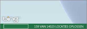 Power Map-status op de Bing Bar