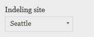 Indeling van site wijzigen