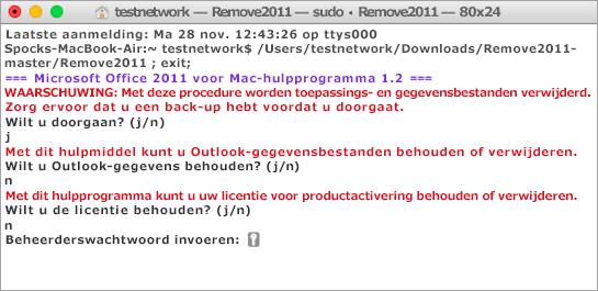 Houd Control ingedrukt en klik op het hulpprogramma Remove2011 om het uit te voeren.