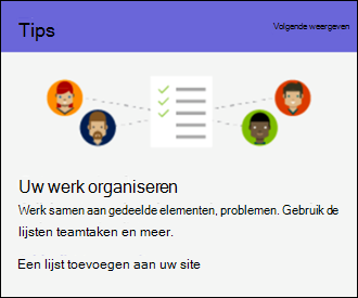 Tips voor SharePoint Online-sitegebruik