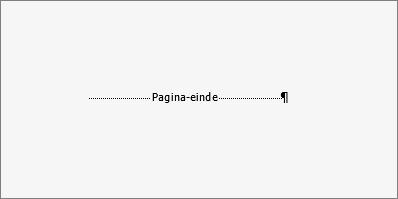 Toont een voorbeeld van een pagina-einde.