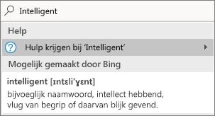 De zoekfunctie uitleg met een gedefinieerd woord