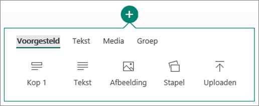 Schermafbeelding van de optie Inhoud invoegen.