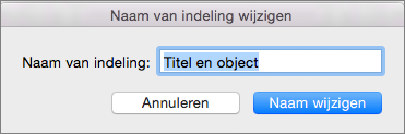 Indeling van wijzigen van naam van diamodel in PPT voor Mac
