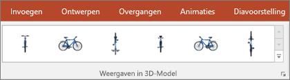 De galerie Weergaven van 3D-modellen geeft u een aantal handige voorinstellingen om de weergave van uw 3D-afbeelding te bepalen