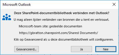 Een verbinding met een SharePoint-documentbibliotheek maken