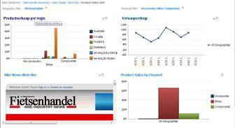 PerformancePoint-dashboard waarop twee filters zijn toegepast