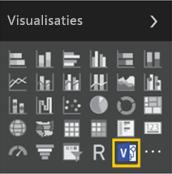 Het nieuwe pictogram voor aangepaste visuele elementen