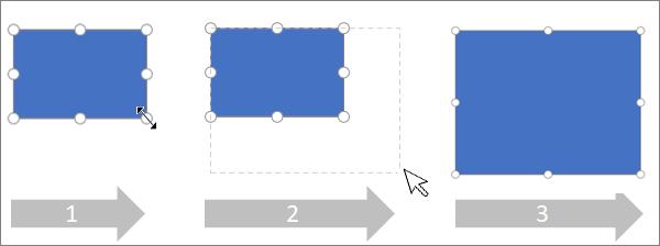 Het formaat van een shape proportioneel wijzigen
