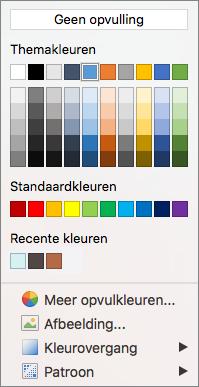 Opties voor kleur