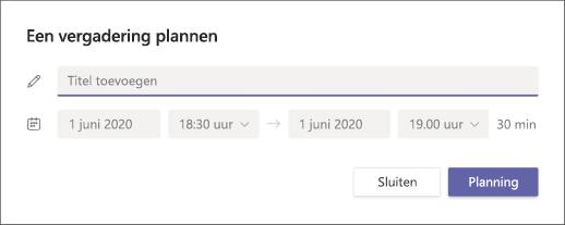 Een vergaderingsscherm plannen