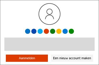 Meld u aan bij uw Microsoft-account of maak er een aan
