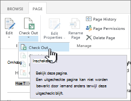 Wiki-uitcheckpagina