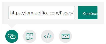 Een koppeling naar uw formulier kopiëren