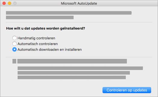 Microsoft AutoUpdate voor Mac