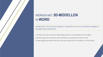 Schermafbeelding van een 3D-voorbladsjabloon van Word
