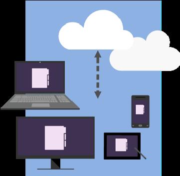 Het concept van de cloud